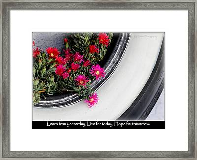 Recycle Lifecycle Framed Print by Kip Krause