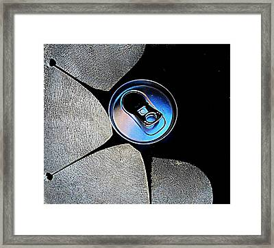Framed Print featuring the photograph Recycled Can In A Recycle Bin by John King