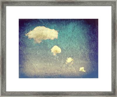 Recycled Clouds Framed Print by Amanda Elwell