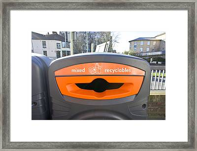 Recycling Bin Framed Print by Tom Gowanlock