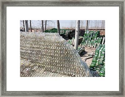 Recycling Glass Framed Print by Ashley Cooper