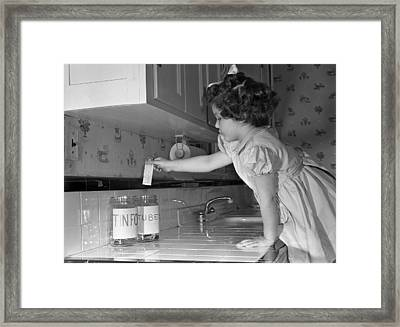 Recycling Metal Framed Print by Underwood Archives
