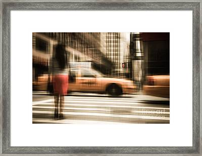 Red 1 Framed Print by Hannes Cmarits