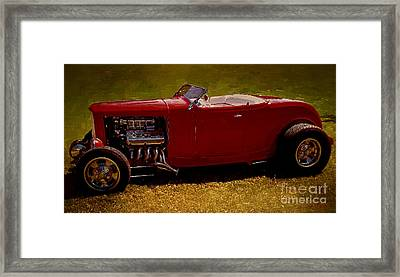 Red 32' Coupe Framed Print
