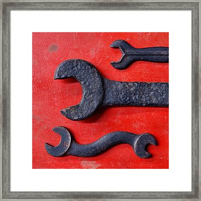 Red 34 Framed Print by Tom Druin