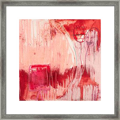 Red. 4 Framed Print by Marie Tosto