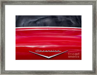 Red 57 Chevy Abstract Framed Print by Tim Gainey