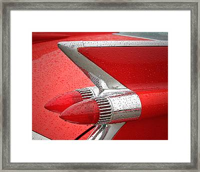 Red '59 Caddy Tail Framed Print by Christopher McKenzie