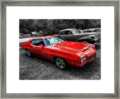 Red '72 Pontiac Gto 002 Framed Print