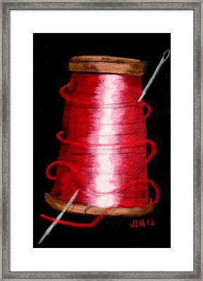 Framed Print featuring the drawing Red 8 by Joseph Hawkins