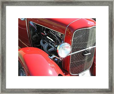 Red A Framed Print