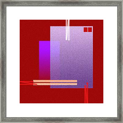 Red Abstract 2 Framed Print by Anil Nene