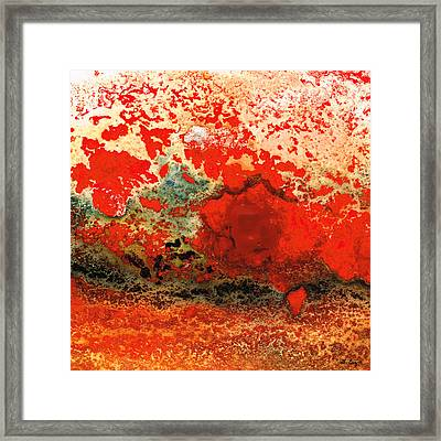Red Abstract Art - Lava - By Sharon Cummings Framed Print by Sharon Cummings