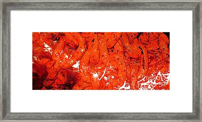 Red Abstract Art - Linked - By Sharon Cummings Framed Print by Sharon Cummings