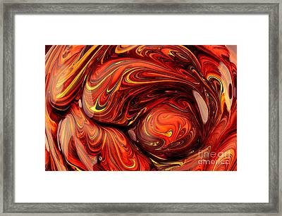 Red Abstract Art Framed Print by Oleksiy Maksymenko