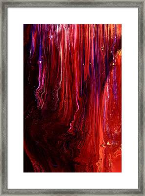 Red Abstract Art Framed Print