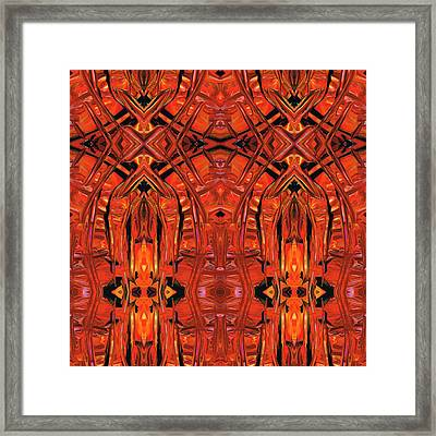 Red Abstract Art - Warm Garden 2 - By Sharon Cummings Framed Print by Sharon Cummings