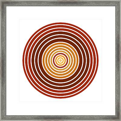 Red Abstract Circle Framed Print by Frank Tschakert