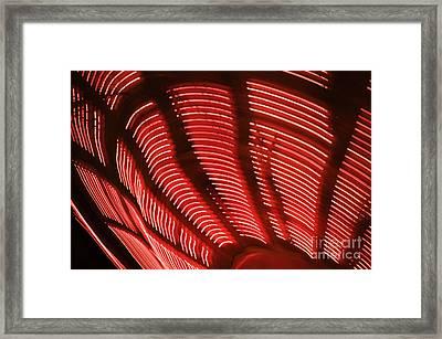 Red Abstract Light 15 Framed Print by Tony Cordoza