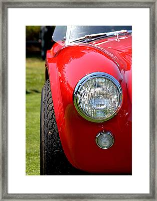 Framed Print featuring the photograph Red Ac Cobra by Dean Ferreira