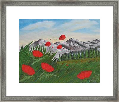 Red Accents Framed Print by Fabrizio Mapelli