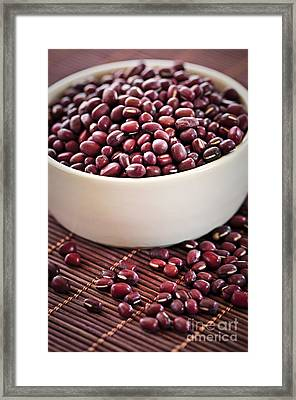 Red Adzuki Beans Framed Print