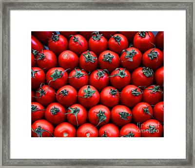 Red Framed Print by Alex Dudley