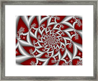 Red An Gray Framed Print