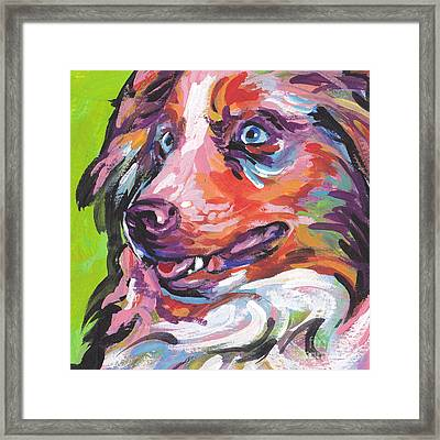 Red And Awesome Framed Print