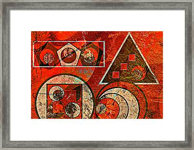Red And Black Abstract Framed Print