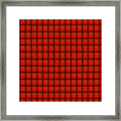 Red And Black Checkered Tablecloth Cloth Background Framed Print by Keith Webber Jr