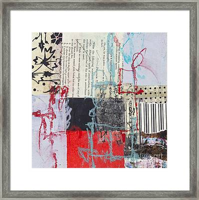 Red And Black Framed Print by Elena Nosyreva
