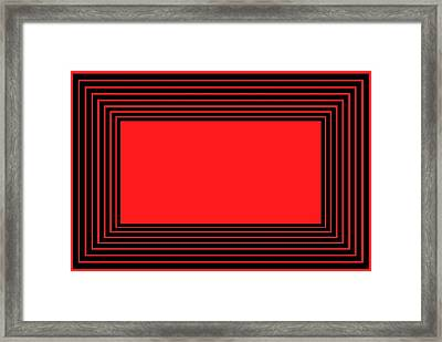 Red And Black Illusion Framed Print