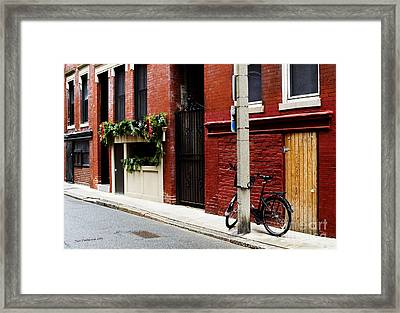 Red And Black Framed Print by Jim  Calarese