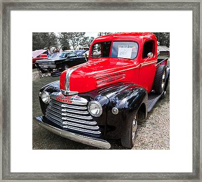 Framed Print featuring the photograph Red And Black Mercury Pick Up by Mick Flynn