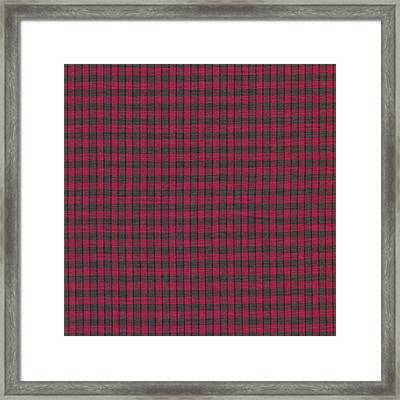 Red And Black Plaid Pattern Textile Background Framed Print by Keith Webber Jr