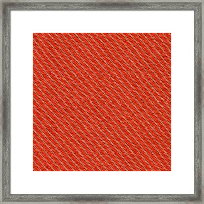 Red And Black Striped Diagonal Textile Background Framed Print