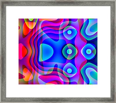 Red And Blue Framed Print by Charles Ragsdale