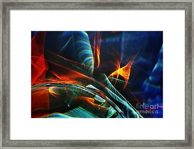 Red And Blue Light Abstraction Framed Print by Elena Lir-Rachkovskaya