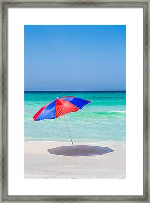 Red And Blue Framed Print by Shelby  Young