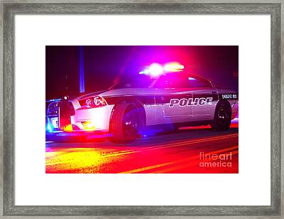 Red And Blues Framed Print by Brian Druggan