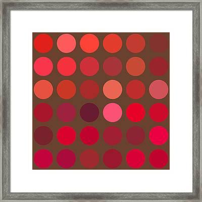 Red And Brown Framed Print