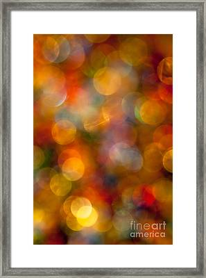 Red And Gold Bokeh Framed Print by Jan Bickerton