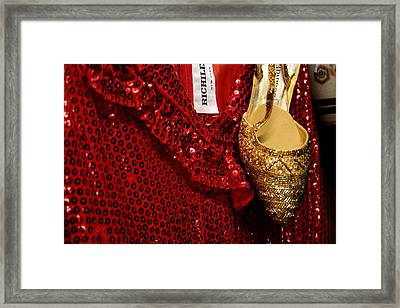 Red And Gold Holiday Framed Print by Toni Hopper