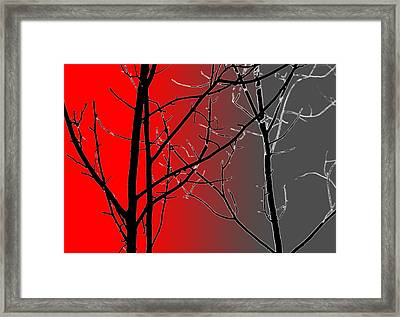 Red And Gray Framed Print