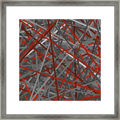 Red And Gray Framed Print by Lourry Legarde