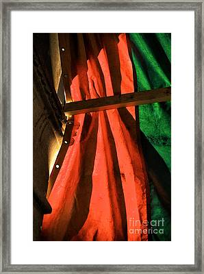 Red And Green In Venice Framed Print by John Rizzuto