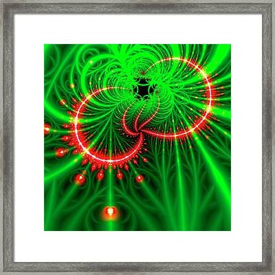Red And Green Patterns Framed Print by Mehau Kulyk