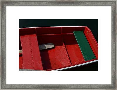 Red And Green Framed Print