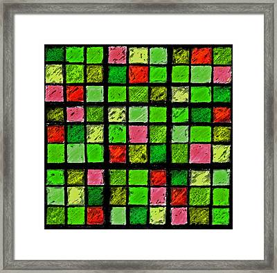 Red And Green Sudoku Framed Print